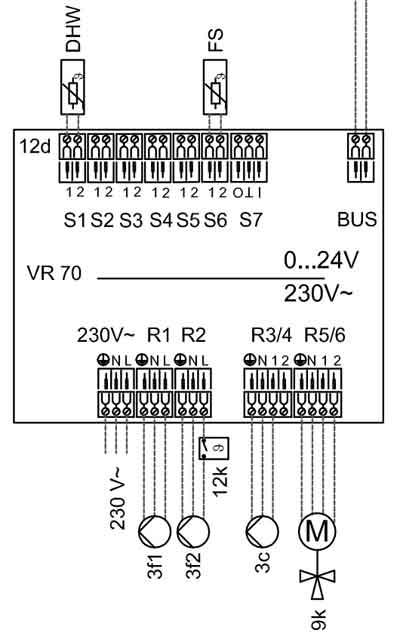 Схема Vaillant VR70